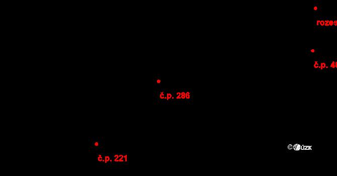 Lhota 286, Plzeň na parcele st. 542/220 v KÚ Lhota u Dobřan, Katastrální mapa