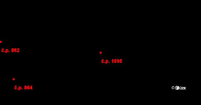 Holešovice 1595, Praha na parcele st. 2356/72 v KÚ Holešovice, Katastrální mapa