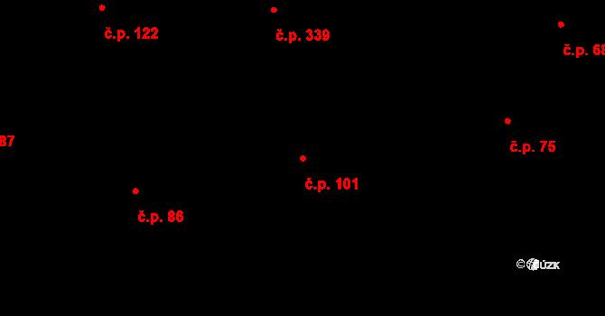 Karlín 101, Praha na parcele st. 478/1 v KÚ Karlín, Katastrální mapa