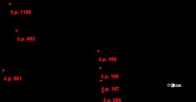 Černovice 195, Brno na parcele st. 843 v KÚ Černovice, Katastrální mapa
