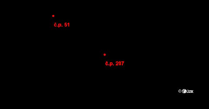 Liberec XVIII-Karlinky 207, Liberec na parcele st. 305/3 v KÚ Karlinky, Katastrální mapa