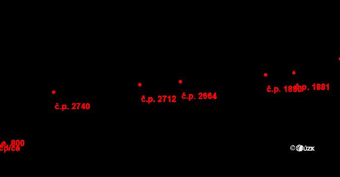 Aš 2664 na parcele st. 4259 v KÚ Aš, Katastrální mapa
