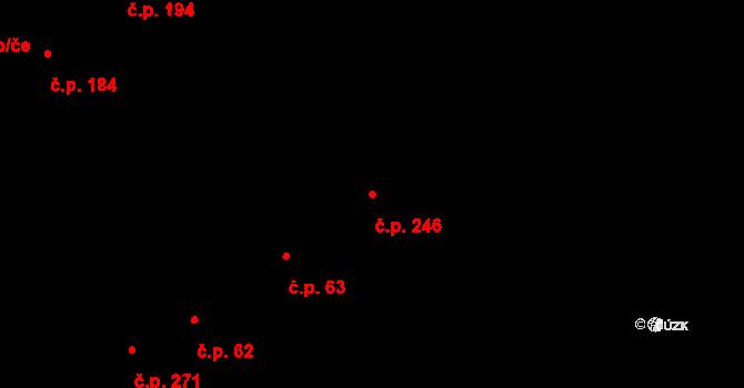 Svitávka 246 na parcele st. 268 v KÚ Svitávka, Katastrální mapa