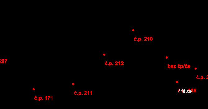 Bratronice 212 na parcele st. 511 v KÚ Bratronice u Kladna, Katastrální mapa