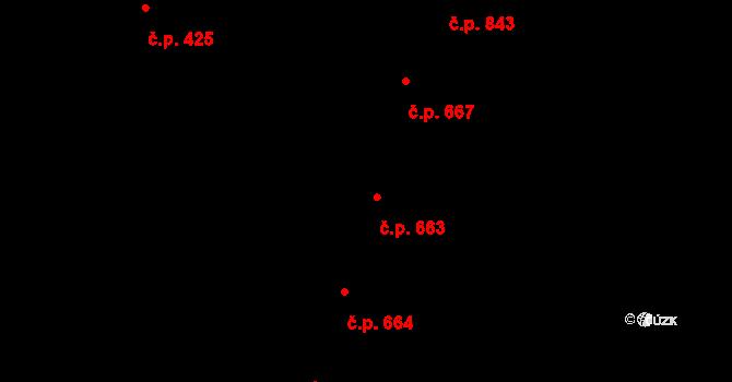 Nivnice 663 na parcele st. 2081 v KÚ Nivnice, Katastrální mapa
