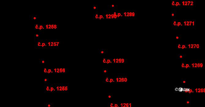 Svítkov 1259, Pardubice na parcele st. 1846 v KÚ Svítkov, Katastrální mapa