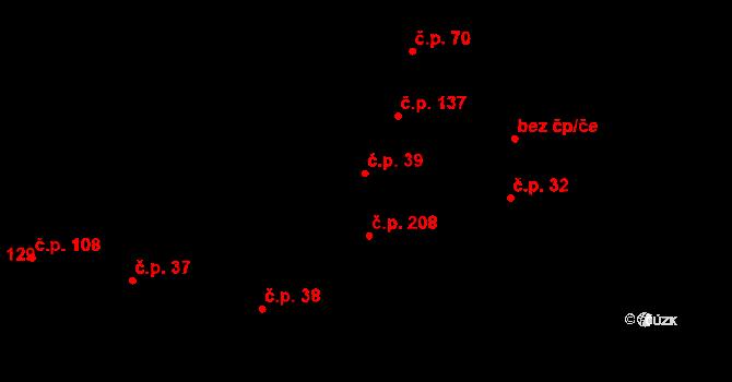 Zlonice 39 na parcele st. 56/2 v KÚ Zlonice, Katastrální mapa