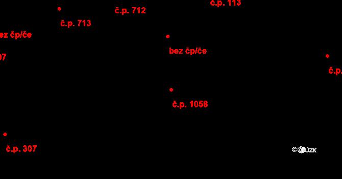 Hrabová 1058, Ostrava na parcele st. 1084/8 v KÚ Hrabová, Katastrální mapa