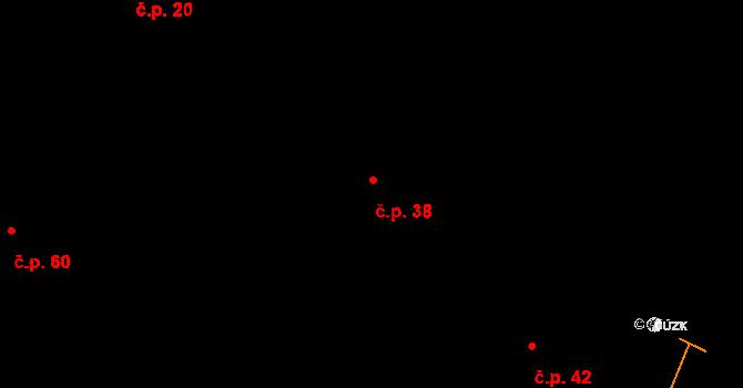 Lhota nad Rohanovem 38, Vacov na parcele st. 96 v KÚ Javorník u Stach, Katastrální mapa