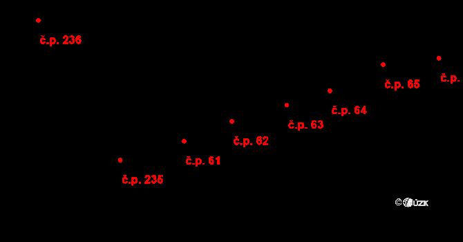 Horní Stropnice 62 na parcele st. 123 v KÚ Horní Stropnice, Katastrální mapa