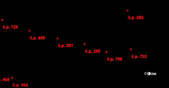 Pražské Předměstí 250, Hradec Králové na parcele st. 531 v KÚ Pražské Předměstí, Katastrální mapa