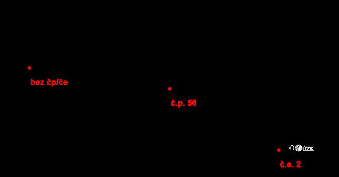 Loucká 56 na parcele st. 125/1 v KÚ Loucká, Katastrální mapa