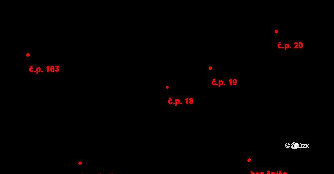 Nová Ves u Světlé 18 na parcele st. 41/1 v KÚ Nová Ves u Světlé nad Sázavou, Katastrální mapa