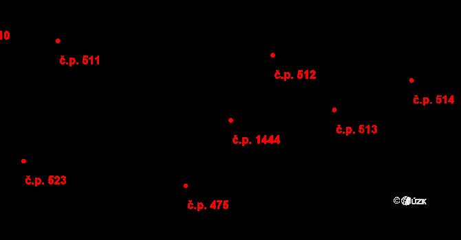 Nové Město 1444, Praha na parcele st. 1854 v KÚ Nové Město, Katastrální mapa