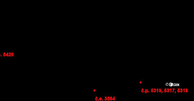 Zlín 5317,5318,5319 na parcele st. 8269 v KÚ Zlín, Katastrální mapa
