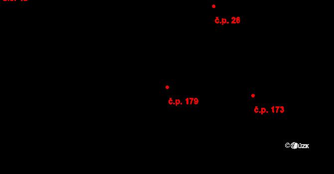 Vlčková 179 na parcele st. 441 v KÚ Vlčková, Katastrální mapa