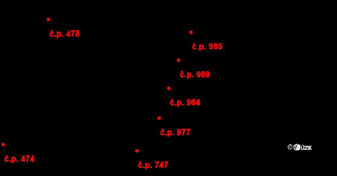 Nivnice 964 na parcele st. 2036/4 v KÚ Nivnice, Katastrální mapa