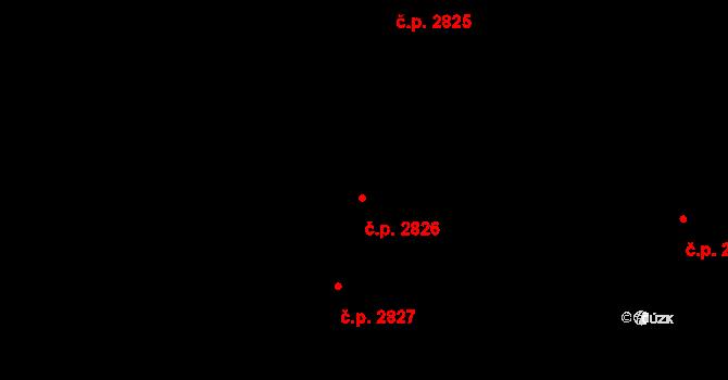 Louny 2826 na parcele st. 3276/213 v KÚ Louny, Katastrální mapa