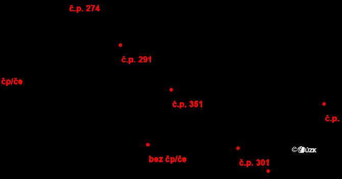 Fryšták 351 na parcele st. 680 v KÚ Fryšták, Katastrální mapa