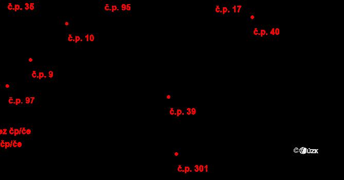 Davle 39 na parcele st. 54 v KÚ Davle, Katastrální mapa