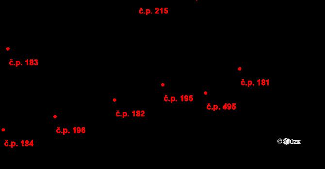 Buštěhrad 195 na parcele st. 1032 v KÚ Buštěhrad, Katastrální mapa