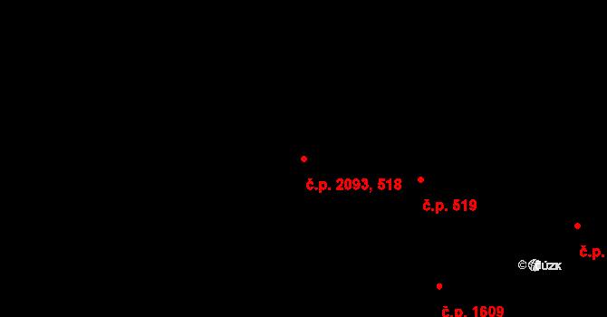 Nové Město 518,2093, Praha na parcele st. 1839/2 v KÚ Nové Město, Katastrální mapa