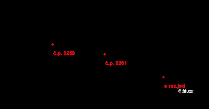 Tachov 2261 na parcele st. 3177/367 v KÚ Tachov, Katastrální mapa