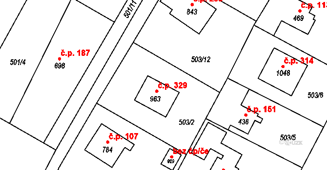 Davle 45694982 na parcele st. 963 v KÚ Davle, Katastrální mapa