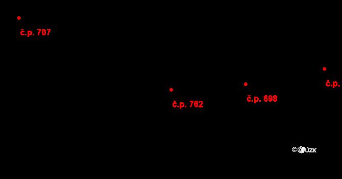 Prštné 762, Zlín na parcele st. 1209 v KÚ Prštné, Katastrální mapa