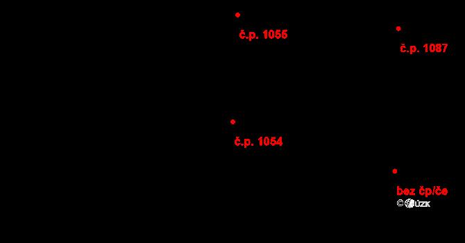 Nivnice 1054 na parcele st. 1981/64 v KÚ Nivnice, Katastrální mapa