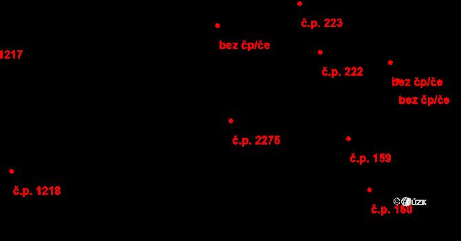 Žďár nad Sázavou 5 2275, Žďár nad Sázavou na parcele st. 2283/3 v KÚ Město Žďár, Katastrální mapa