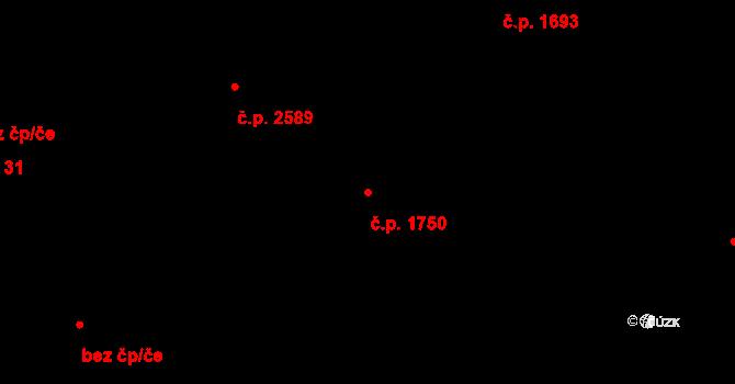 Horní Počernice 1750, Praha na parcele st. 2757/3 v KÚ Horní Počernice, Katastrální mapa