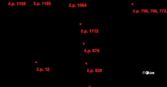 Žižkov 878, Praha na parcele st. 1409/1 v KÚ Žižkov, Katastrální mapa