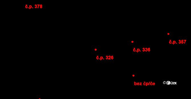 Karlín 326, Praha na parcele st. 372 v KÚ Karlín, Katastrální mapa