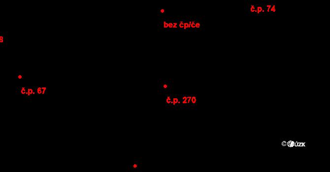 Řež 270, Husinec na parcele st. 742 v KÚ Husinec u Řeže, Katastrální mapa