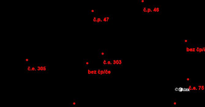 Lety 303 na parcele st. 1400 v KÚ Lety u Dobřichovic, Katastrální mapa