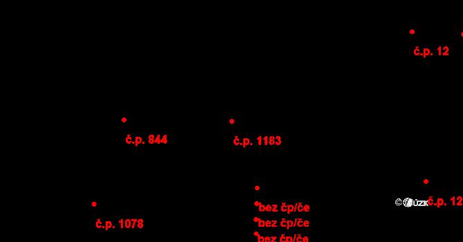 Nusle 1183, Praha na parcele st. 882/1 v KÚ Nusle, Katastrální mapa