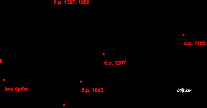 Duchcov 1207 na parcele st. 1408 v KÚ Duchcov, Katastrální mapa