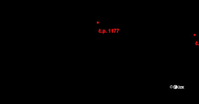 Řepy 1177, Praha na parcele st. 1168/2 v KÚ Řepy, Katastrální mapa
