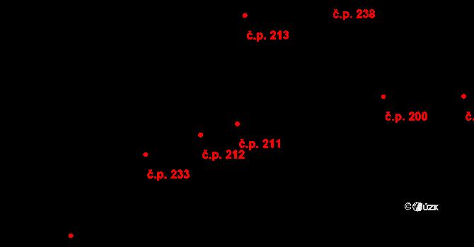 Březno 211 na parcele st. 217/1 v KÚ Březno u Chomutova, Katastrální mapa