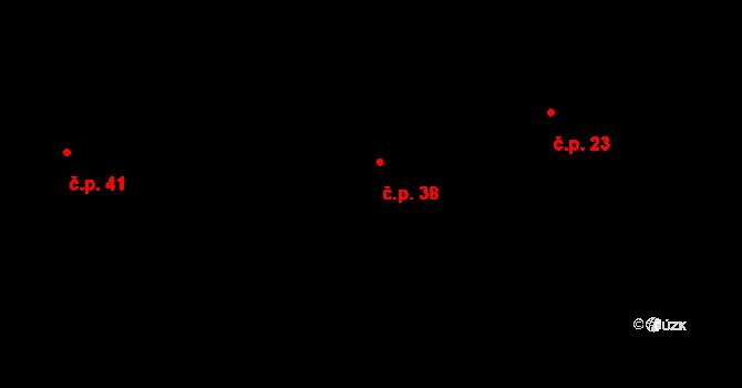Jeníčkova Lhota 38, Chotoviny na parcele st. 14/2 v KÚ Jeníčkova Lhota, Katastrální mapa