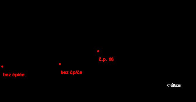 Stránka 16 na parcele st. 73/1 v KÚ Stránka u Mšena, Katastrální mapa