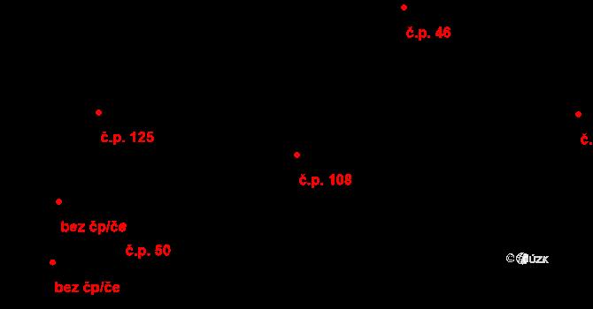 Liberec XI-Růžodol I 108, Liberec na parcele st. 713 v KÚ Růžodol I, Katastrální mapa