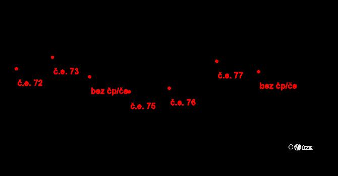 Prštné 76, Zlín na parcele st. 870 v KÚ Prštné, Katastrální mapa