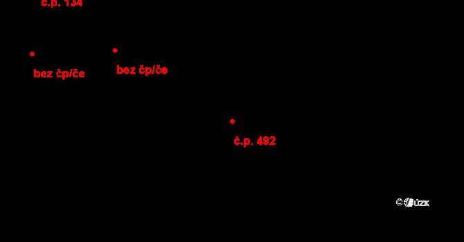 Česká Ves 492 na parcele st. 1778/5 v KÚ Česká Ves, Katastrální mapa