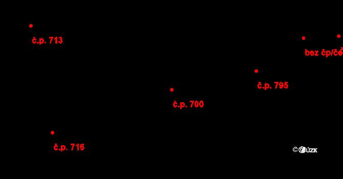 Prštné 700, Zlín na parcele st. 1124 v KÚ Prštné, Katastrální mapa