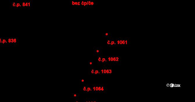 Bílovec 1062 na parcele st. 2494/15 v KÚ Bílovec-město, Katastrální mapa