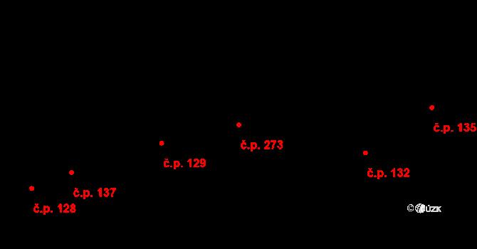 Bratronice 273 na parcele st. 285 v KÚ Bratronice u Kladna, Katastrální mapa