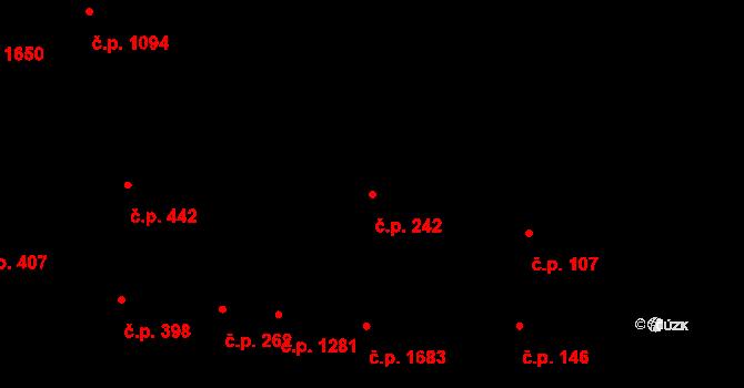 Severní Předměstí 242, Plzeň na parcele st. 10584 v KÚ Plzeň, Katastrální mapa
