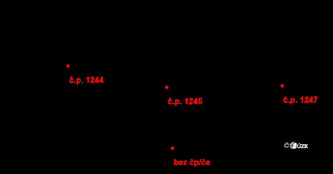 Liberec XIV-Ruprechtice 1245, Liberec na parcele st. 2068/52 v KÚ Ruprechtice, Katastrální mapa